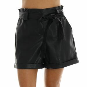 SHORTS ECOPELLE NERO